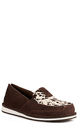 Ariat Women's Cruiser Chocolate Chip Suede and Spotted Hair Casual Shoes