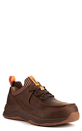 Ariat Men's Working Mile Distressed Brown Round Composite Toe Work Shoe