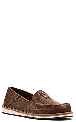Ariat Women's Cruiser Brown Floral Embossed Casual Shoes