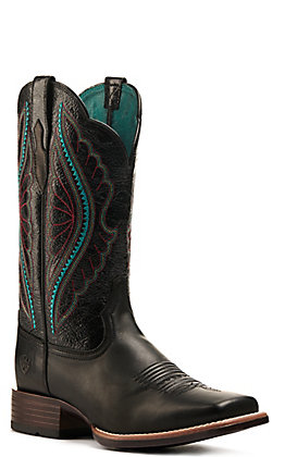 Ariat Women's PrimeTime True Black Bantamweight Wide Square Toe Western Boot