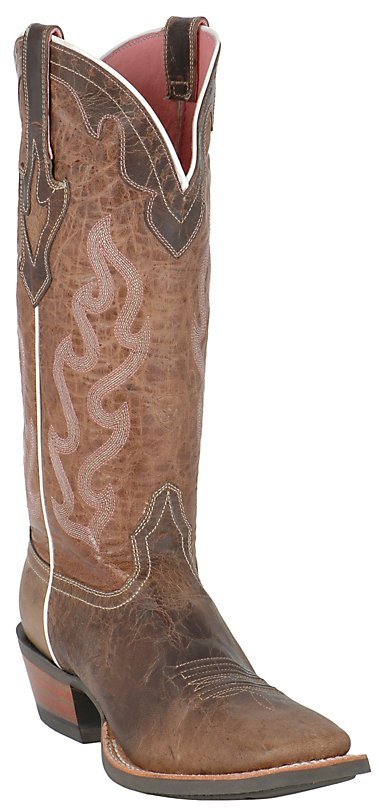 Ariat Ladies Weathered Brown Crossfire Caliente Western Boot ...