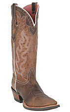 Ariat Ladies Weathered Brown Crossfire Caliente Western Wide Square Toe Boot