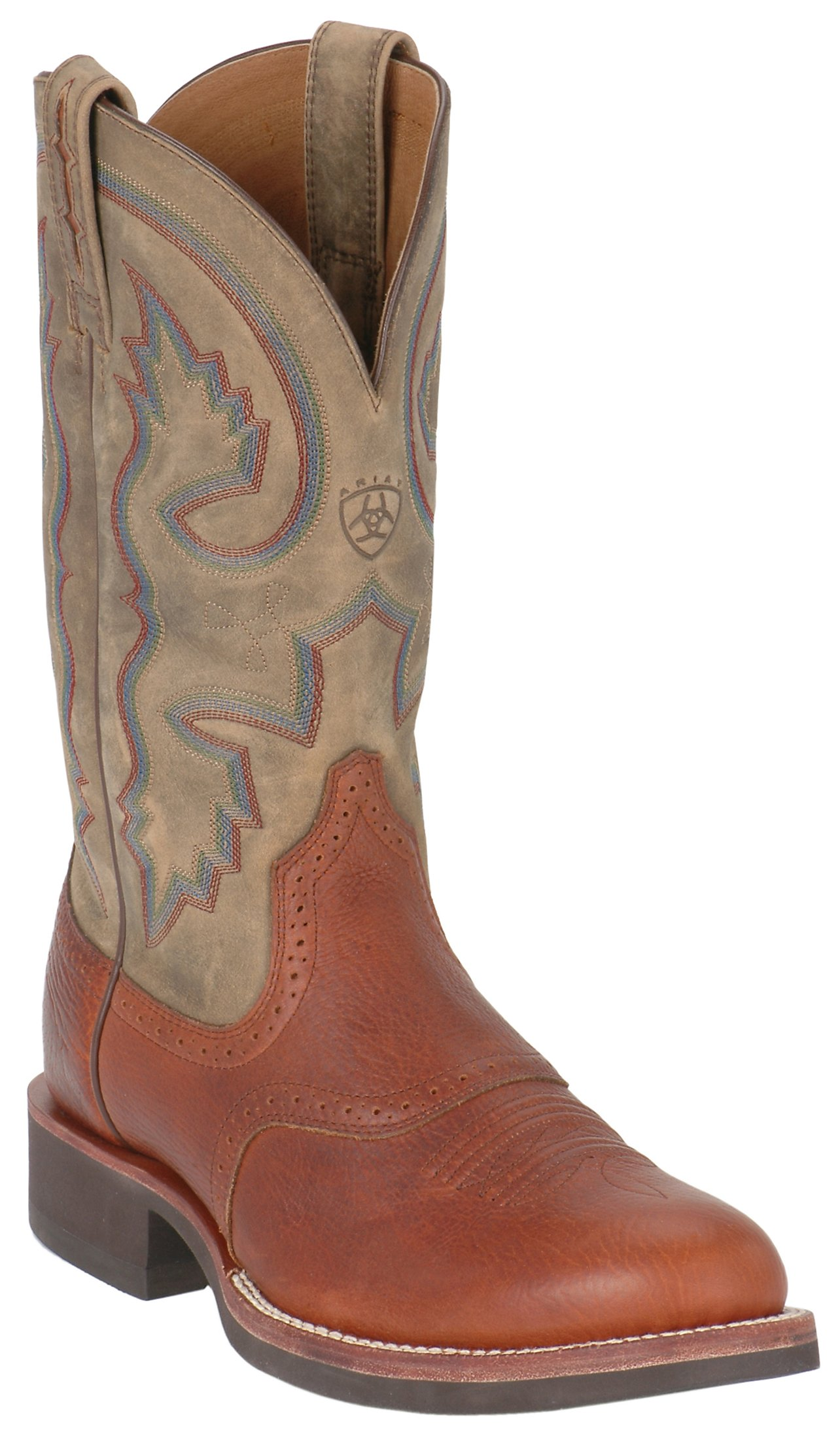 Ariat Cobalt Quantum Men's Red Oak & Brown Bomber Crepe Sole Boots ...