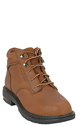 Ariat Women's Macey Dark Peanut Round Composite Toe Lace Up Work Boot