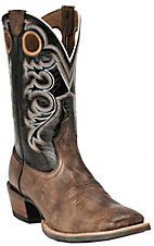 Ariat Crossfire Men's Weathered Brown w/ Black Double Welt Square Toe Western Boot