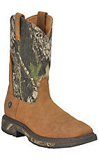 Ariat Men's Aged Bark w/ Mossy Oak Camo Top WorkHog Square Toe Western Work Boot