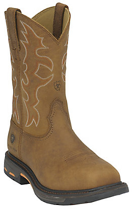 Ariat Men's WorkHog Rugged Bark Square Steel Toe Work Boot