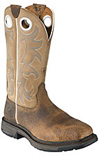 Ariat Workhog Men's Earth w/ Tall Beige Top Square Steel Toe Western Work Boot