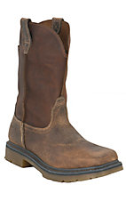 Ariat Rambler Men's Distressed Earth Brown Square Toe Western Work Boots