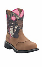 Ariat Women's Toasted Auburn with Camo Top Cowgirl Fatbaby Western Steel Toe Boot