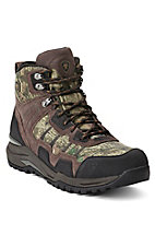 Ariat Venture Men's Dark Brown & Mossy Oak H20 Mid Lace-Up Waterproof Boots