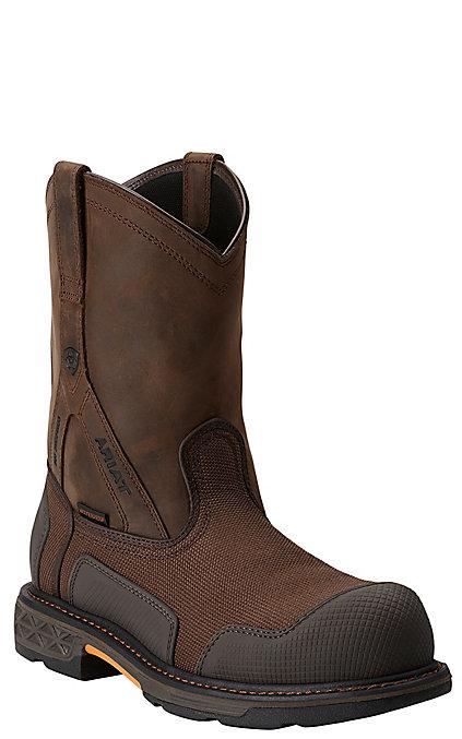 2121b88ca35 Ariat Overdrive XTR Men's Brown Cordura Waterproof Round Composite Toe Work  Boots