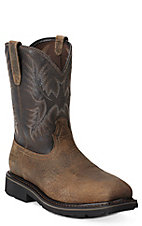 Ariat Sierra Men's Earth Brown Square Steel Toe Slip-On Workboots