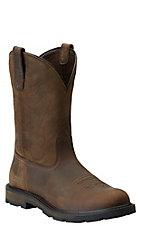 Ariat Groundbreaker Men's Distressed Brown Slip-On Workboots
