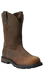 Ariat Groundbreaker Men's Distressed Brown Steel Toe Slip-On Workboots