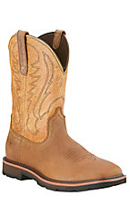 Ariat Groundbreaker Men's Dusted Brown Slip-On Square Toe Workboots