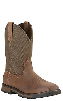 Ariat Men's Groundbreaker Brown Waterproof Square Steel Toe Work Boot
