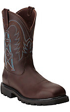 XSM Ariat Men's Chocolate Wildcatter Flame Resistant Waterproof Composite Square Toe Work Boots