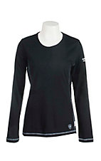 Ariat Work FR Women's Black HRC2 Polartec Crew Neck Long Sleeve Flame Resistant Shirt