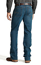 Ariat Rebar Men's Stone Wash Open Pocket Low Rise Boot Cut Stretch Work Jeans