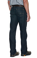 Ariat Rebar Men's Dark Wash Open Pocket Low Rise Straight Leg Stretch Work Jeans