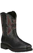 Ariat Men's Sierra Black Steel Wide Square Toe Work Boot
