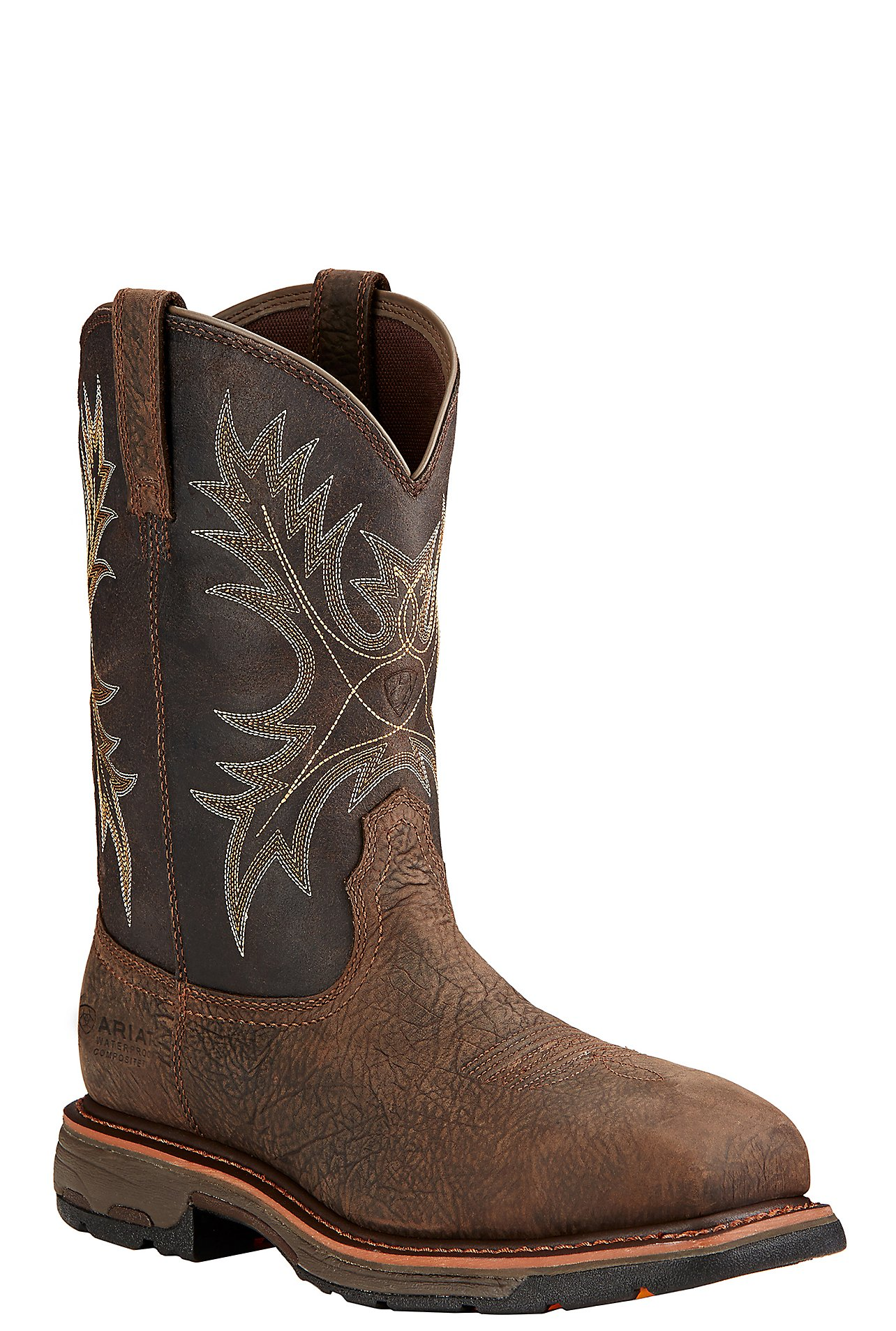 Ariat Workhog Men's Bruin Brown w/ Coffee Top Composite Square Toe ...