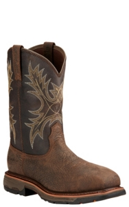 7ca230f5adc Ariat Workhog Men's Bruin Brown with Coffee Top Composite Square Toe  Waterproof Work Boot