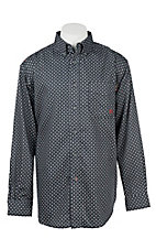 Ariat Men's Work Fire Resistant Black and Grey Tyler Print Woven Long Sleeve Work Shirt