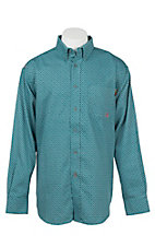 Ariat Men's Work Fire Resistant Turquoise Truman Print Woven Work Shirt