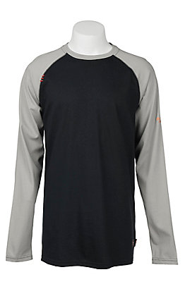 Ariat Men's Grey HRC2 Long Sleeve FR Work Shirt - Big & Tall