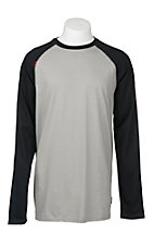 Ariat Work FR Men's Grey and Black HRC2 Crew Neck Long Sleeve Flame Resistant Shirt