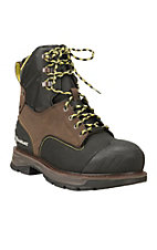 Ariat Men's Brown with Black Details Catalys Composite Toe Lace Up Work Boot