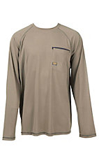 Ariat Rebar Men's Sunstopper Brindle Tan Light Mesh Long Sleeve Work Shirt