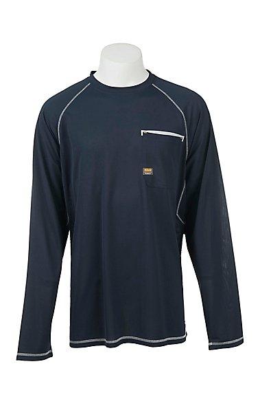 Ariat Rebar Men's Navy Light Mesh Work Shirt | Cavender's
