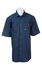 Ariat Rebar Men's Navy Grid Print S/S Work Shirt