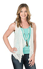Ariat Women's White Glena Crochet Vest