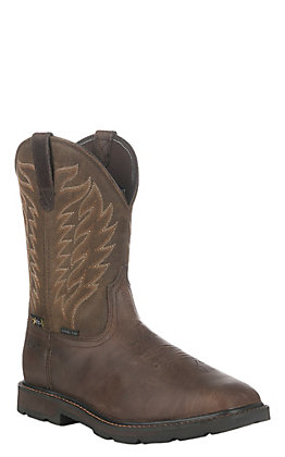 Ariat Men's Groundbreaker Brown MetGuard Square Steel Toe Work Boot