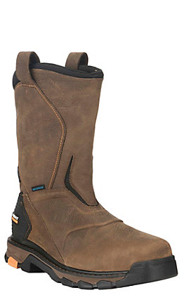 Ariat Men's Intrepid Rye Brown Waterproof Square Composite Toe Work Boot
