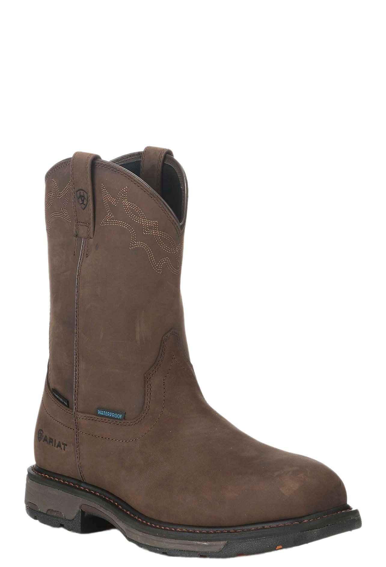 Ariat Men's Brown Workhog Waterproof Composite Round Toe Work ...