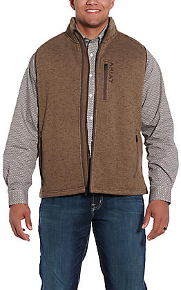 Ariat Men's Caldwell Fossil Tan Full Zip Vest