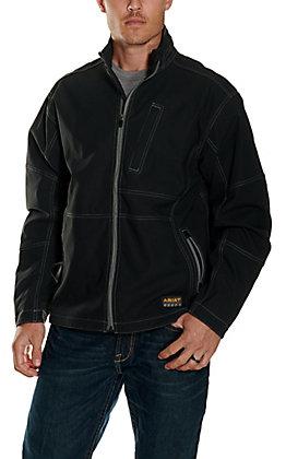 Ariat Men's Black Rebar Canvas Softshell Jacket