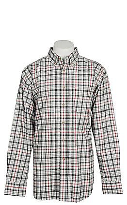 Ariat FR Men's Briggs Grey Multi Plaid Work Shirt