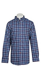Ariat FR Men's Collins True Blue Plaid Work Shirt