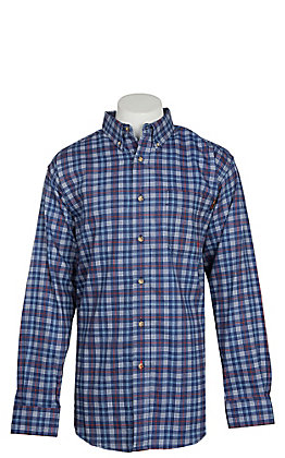 Ariat FR Men's Collins True Blue Plaid Work Shirt