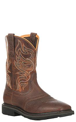 Ariat Men's Sierra Shadowland Brown Square Steel Toe Work Boot