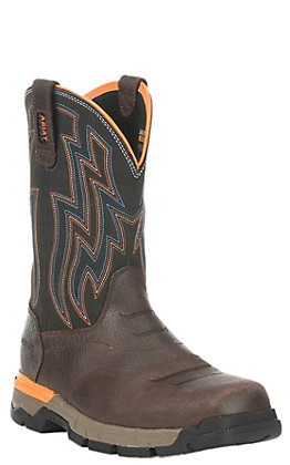 Ariat Men's Rebar Flex Chocolate Brown Square Composite Toe Work Boot