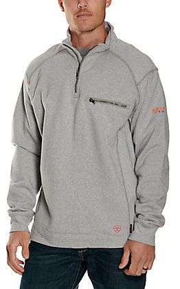 Ariat Men's FR Silver Fox Heather 1/4 Zip Jacket - Big & Tall