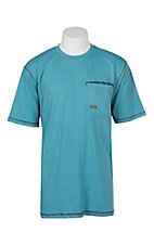 Ariat Rebar Larkspur Teal Crew S/S Work Shirt