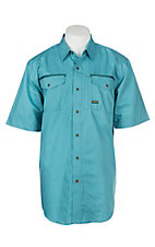 Ariat Rebar Men's Larkspur Teal S/S Work Shirt
